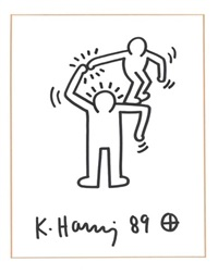 untitled (small man or big man's shoulder) by keith haring