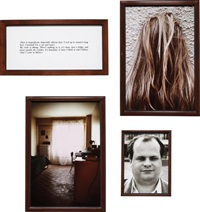 hair, my bedroom (the blind) (set of 4) by sophie calle