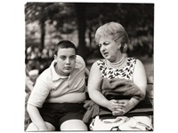 woman and her son, n.y.c by diane arbus
