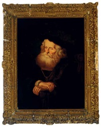 a pensive old scholar by salomon koninck