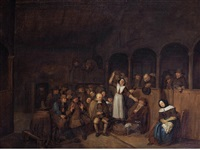 a quakers meeting by egbert van heemskerck the younger