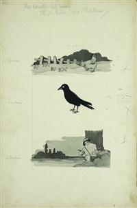 l'epervier, le corbeau, les perdrix by benjamin rabier