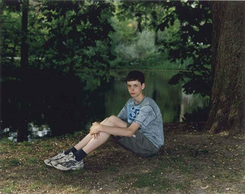 teenage boy in vondelpark amsterdam the netherlands may 12 by rineke dijkstra