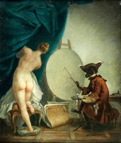 le singe peintre by jean baptiste siméon chardin