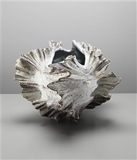monumental shell vessel by shoko koike