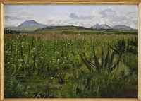 paisaje, valle de toluca by carlos pellicer lopez