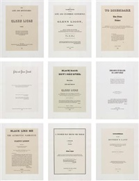 narratives (disembark) (set of 9) by glenn ligon