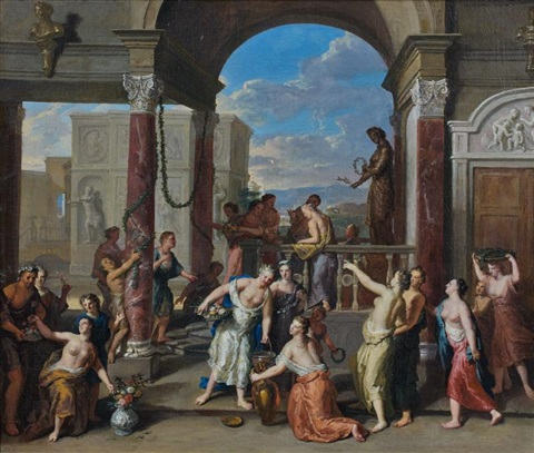 la fête de flore by gerard hoet the elder