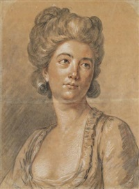 portrait de femme by antoine vestier