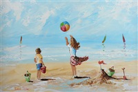 beach fun by lorna millar