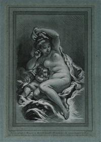 venus und amor (after boucher) by louis marin bonnet