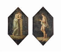 a vestal and a classical figure (pair) by andrea appiani