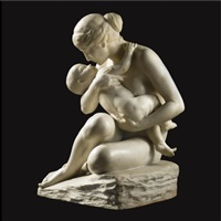mother and child by f. saul