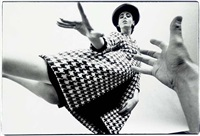 fashion in houndstooth coat by art kane