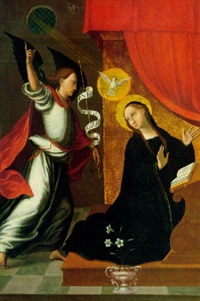 the annunciation by juan correa de vivar