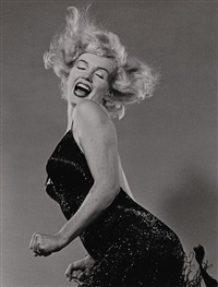 marilyn jumping from the halsman/marilyn portfolio by philippe halsman