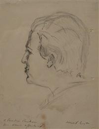 portrait d'andré breton by max ernst