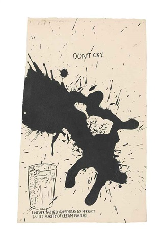 untitled dont cry by raymond pettibon