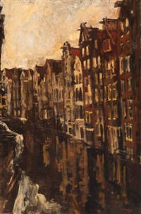 view of the oudezijds achterburgwal, amsterdam by george hendrik breitner