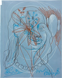 blue woman by george condo