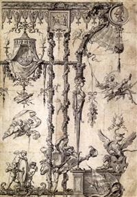 etudes pour un panneau décoratif by gilles-marie oppenort