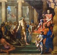 dinocrate présente à alexandre son projet pour le mont athos by jean-baptiste corneille
