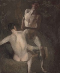 study of three nudes by john constable