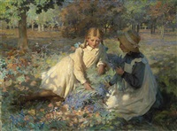 picking bluebells by garnet ruskin wolseley