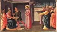 christ before pontius pilate by domenico di michelino