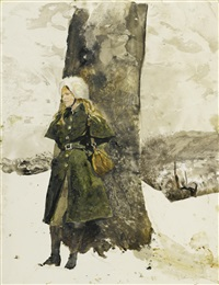 in the orchard (helga in orchard) by andrew wyeth