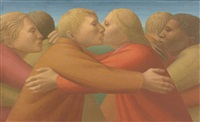 an embrace of peace by george tooker