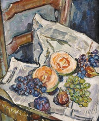 nature morte aux raisins et melons by maria-mela muter
