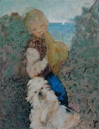 niño con perro by alberto trabucco