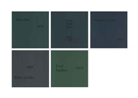 painting no. 101..., painting no. 66..., painting no. 37..., painting no. 27... and painting no. 102... (5 works) by douglas gordon