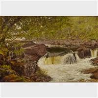 river rapids in summer by serguei ivanovitch lobanoff