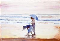bambine sulla spiaggia by mario berrino