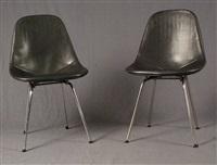 lot se composant de quatre chaises (set of 4) by george nelson and charles eames