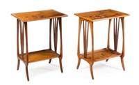 art nouveau marquetry occasional tables by louis majorelle