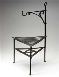 fireplace trivet with revolving hook by morgan colt