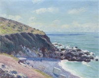 lady's cove, langland bay, le matin by alfred sisley