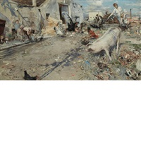 farmyard by giovanni boldini
