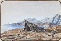 from a greenlandic settlement by carl (jens erik c.) rasmussen