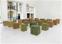 untitled (twenty-five spaces) (in 25 parts) by rachel whiteread