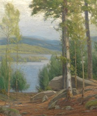 mountain lake by gustave adolph wiegand