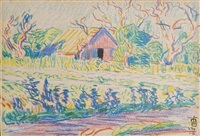 meadow in connecticut by oscar florianus bluemner
