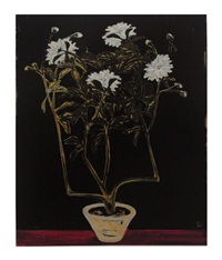 potted chrysanthemum by sanyu