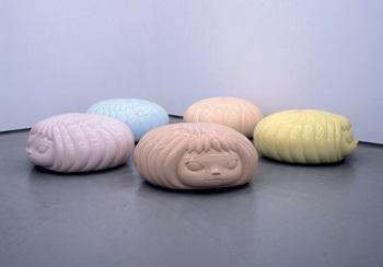 the mini puff marshies 迷你泡芙 in 5 parts by yoshitomo nara