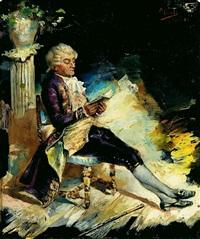 caballero leyendo by manuel picolo y lopez