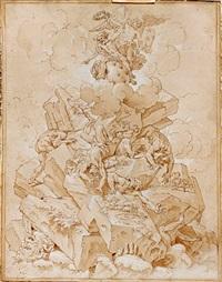 allégorie de jupiter aidant la france à terrasser les géants by jean-baptiste corneille