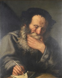 old scriba by salomon koninck